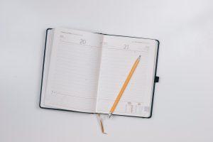 calendar with pencil